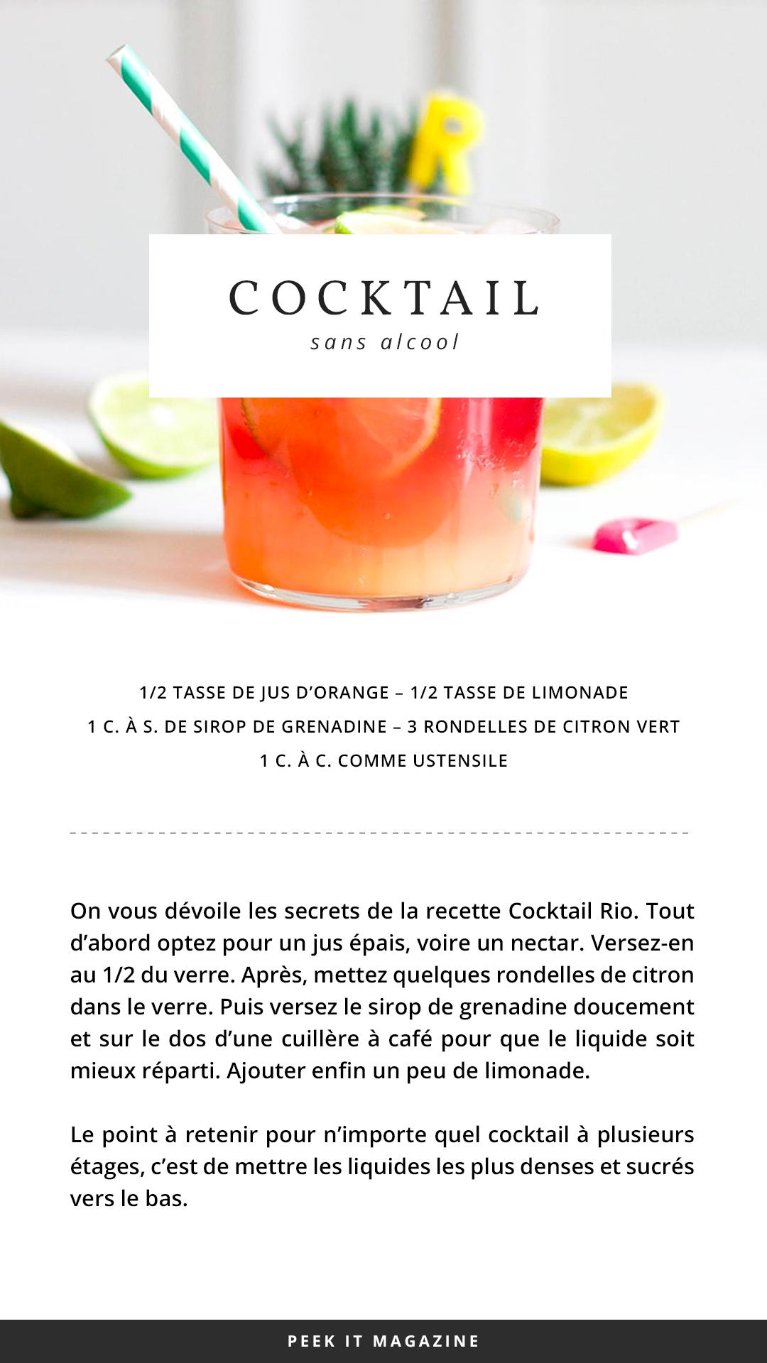 Recette Cocktail Rio Peekitmagazine