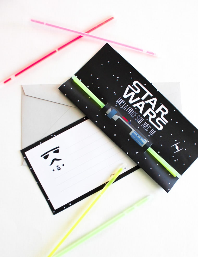 invitation star wars