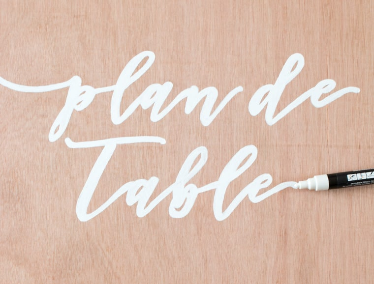 DIY plan de table
