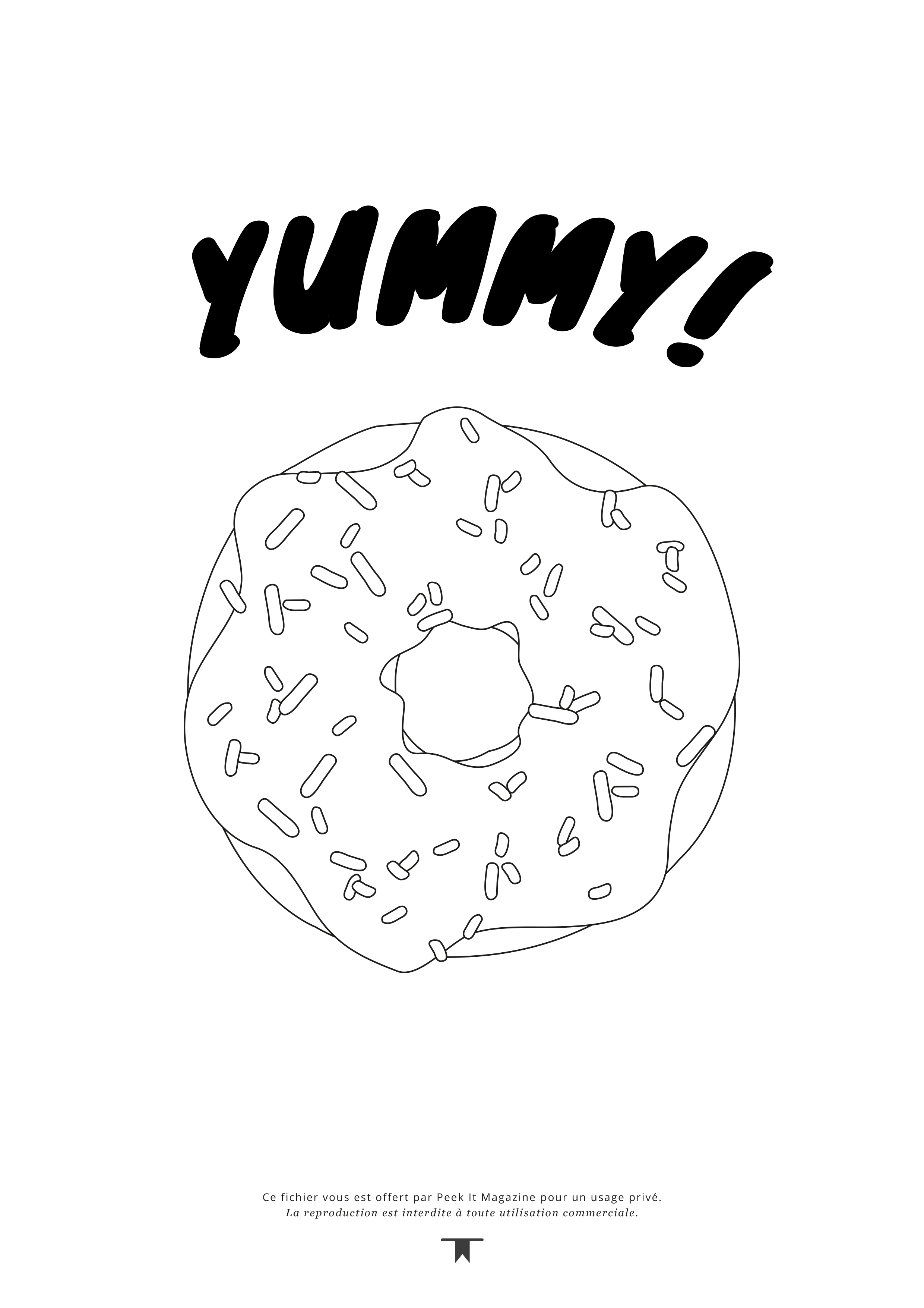 Coloriage Donuts Peekitmagazine