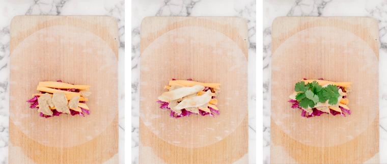 summer rolls poulet