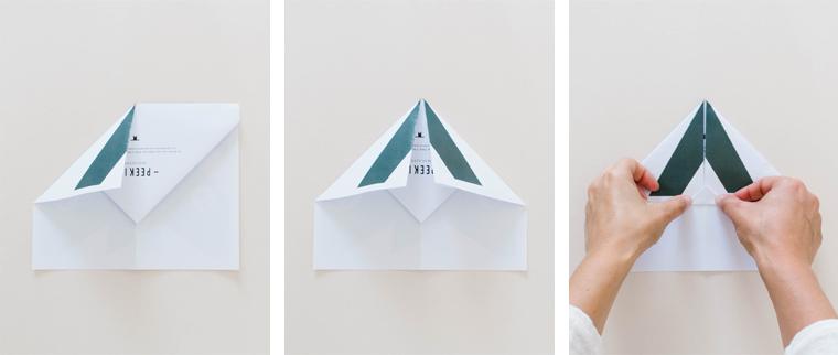 étape avion de chasse en papier