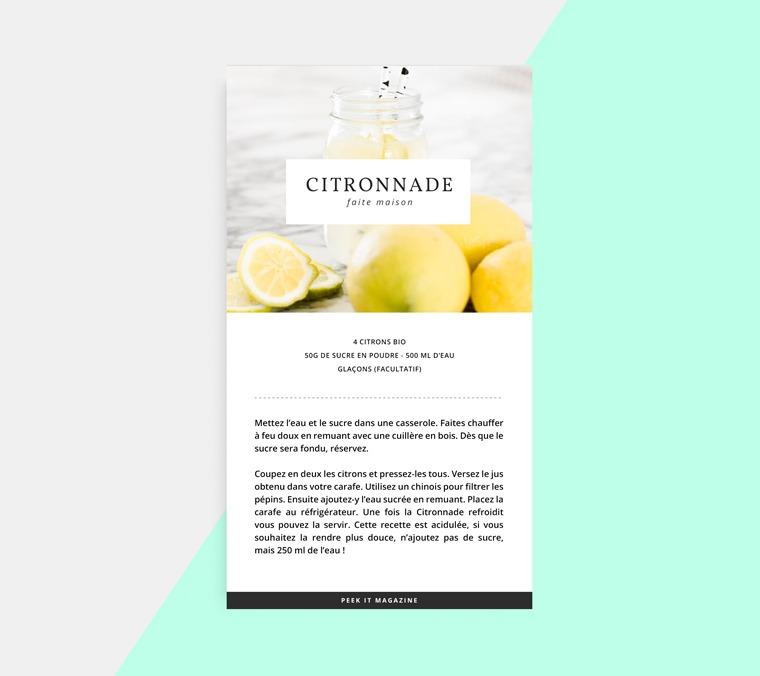 citronnade rapide