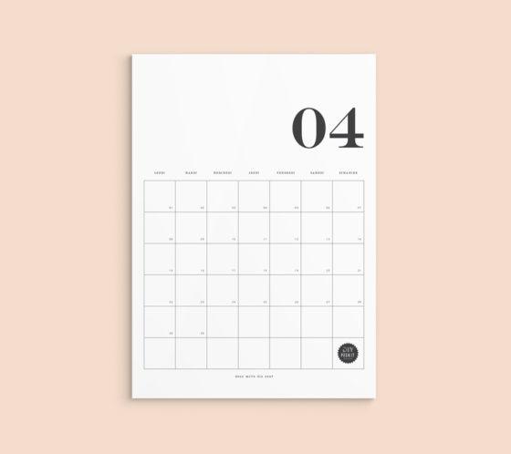 calendrier avril 2019