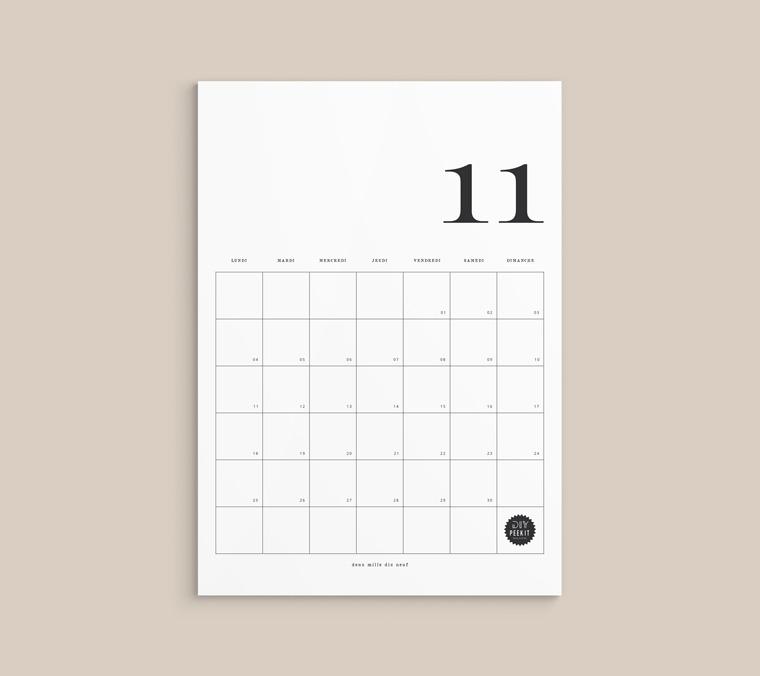 Calendrier Novembre 2019